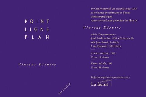 Vincent Dieutre - soirée du 16 décembre 1999