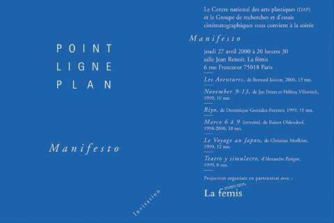 27 avril 2000, soirée Manifesto