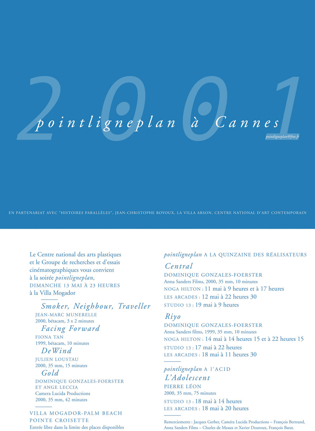 Pointligneplan à Cannes 13 mai 2001
