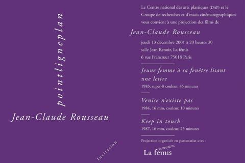 Soirée Jean-Claude Rousseau 13 décembre 2001. La fémis