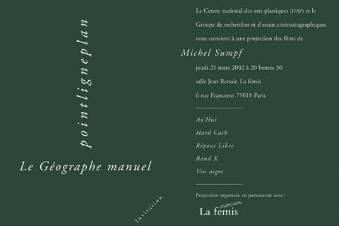 Soirée Michel Sumpf 21 mars 2002. La fémis