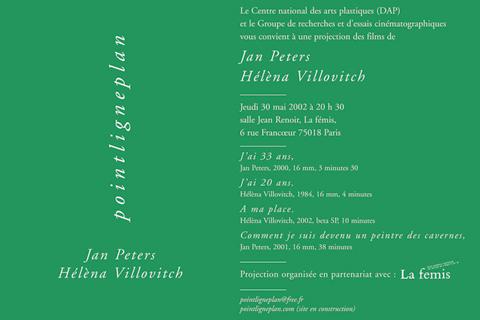 Soirée Jan Peters et Héléna Villovitch 30 mai 2002. La fémis