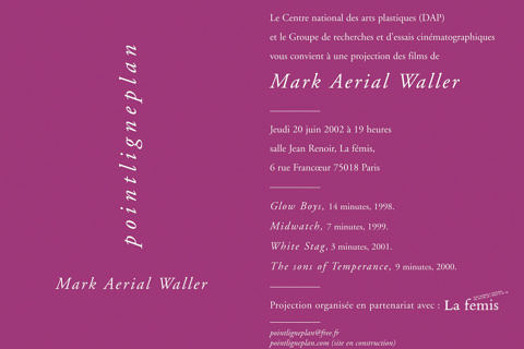 Soirée Mark Aerial Waller Jeudi 20 juin 20012. La fémis