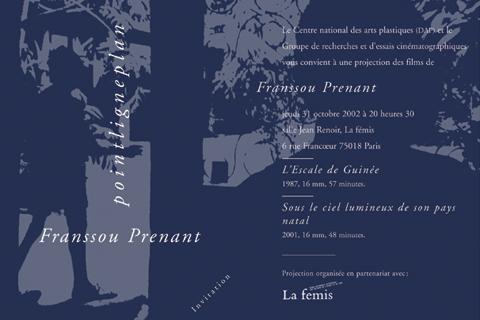 Soirée Franssou Prenant Jeudi 31 octobre 2002. La fémis