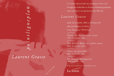 Soirée Laurent Grasso Jeudi 28 novembre 2002. La fémis
