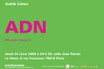 Judith Cahen / ADN. Jeudi 24 mars 2005. La fémis