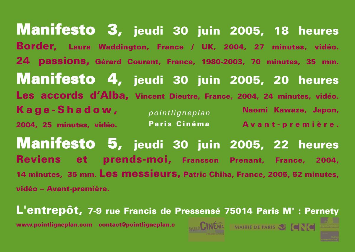 Manifesto 29 et 30 juin 2005