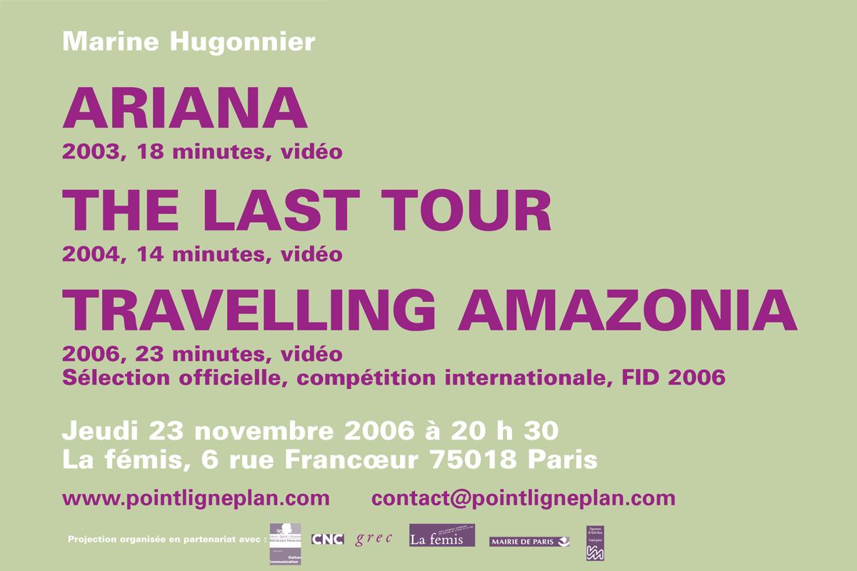 Soirée Marine Hugonnier Jeudi 23 novembre 2006. La fémis