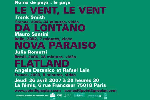 Noms de pays : le pays. Jeudi 26 avril 2007. La fémis