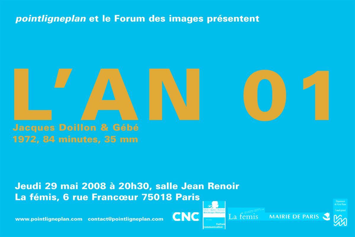 Jacques Doillon & Gébé / L'An 01. Jeudi 29 mai 2008