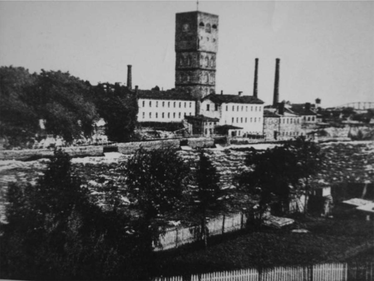 Vue de l'usine Kreenholm, Narva, années 50